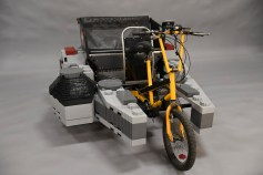 Photos from the LEGO Star Warsô Millennium Falcon Pedicab shoot, Monday, April 30, 2018, in Enfield, Conn. (Jessica Hill/AP Images for LEGO, Inc)