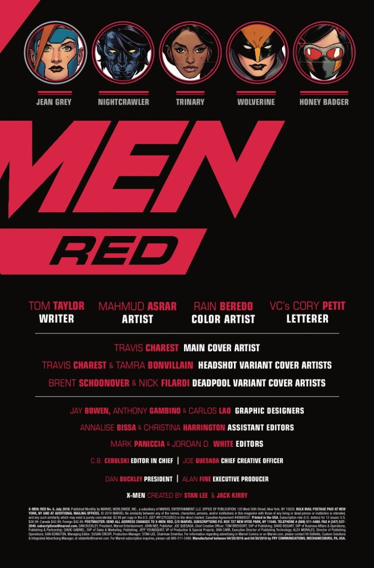 Marvel Preview: X-Men Red #4