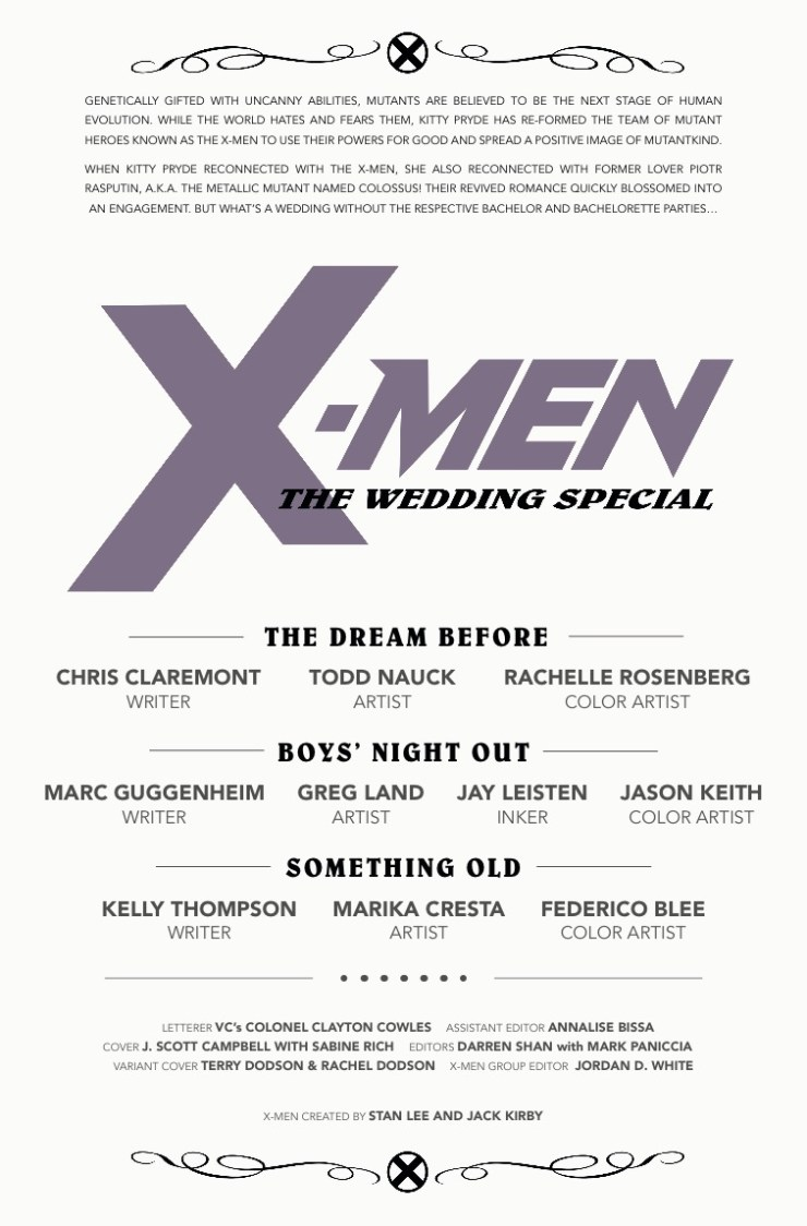 Marvel Preview: X-Men: The Wedding Special #1