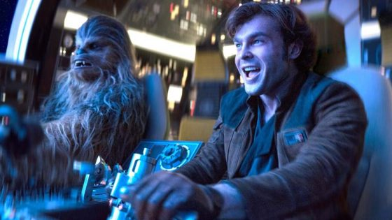 See the very first time Chewbacca and Han fly together.