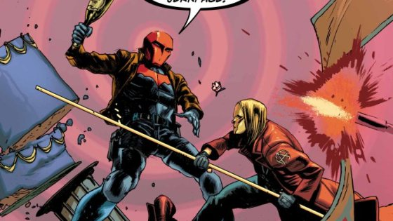 Red Hood is providing protection for Catwoman's bachelorette party -- why is Anarky trying to stop it?
