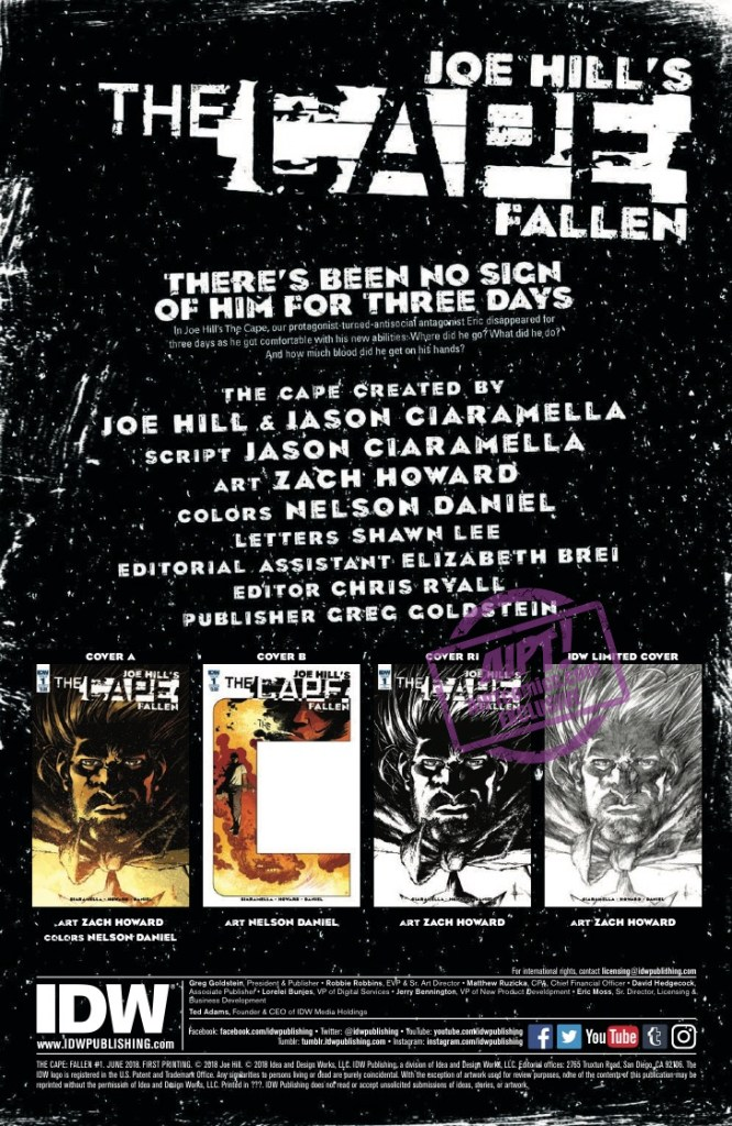 [EXCLUSIVE] IDW Preview: Joe Hill's The Cape Fallen #1