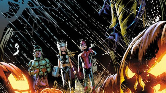 Spooky stories that feature Iron Man, Captain America, Daredevil, Punisher, and the X-Men!