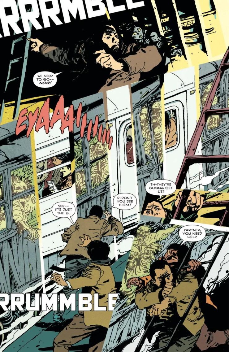 Brooklyn Blood | Paul Levitz & Tim Hamilton - Ghost train scene