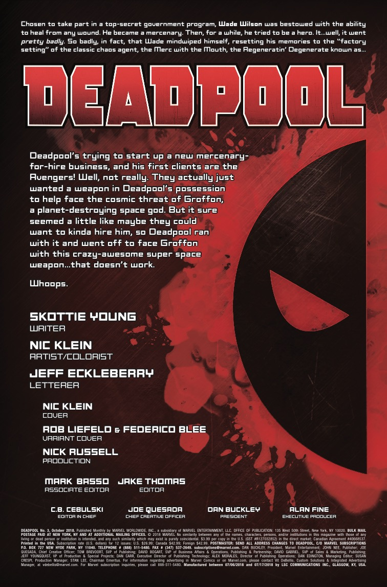 Deadpool #3 review: Ending the opening arc with a thud