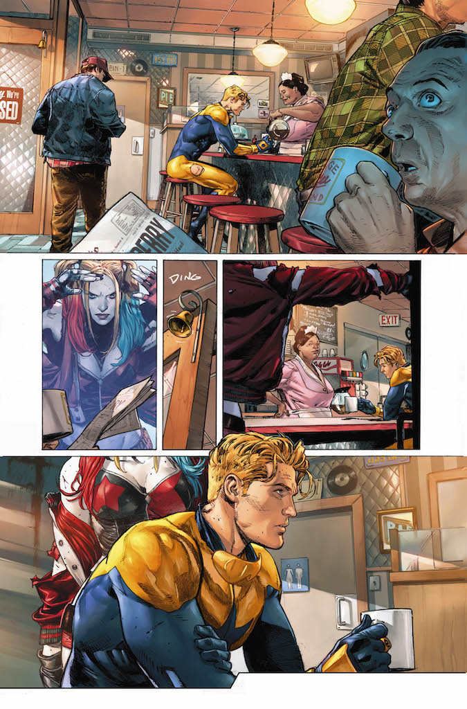 First Look: Heroes in Crisis #1, a Harley Quinn and Booster Gold confessional