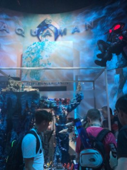The Aquaman area is impressive this year. Not only does it contain a huge fish tank sized toy set but movie stuff too.