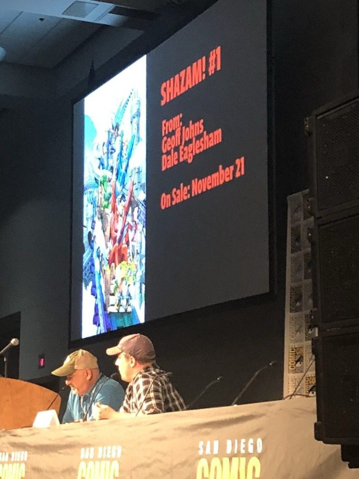 Geoff Johns devoted a big portion of his Spotlight SDCC 2018 panel to his work on future comic book series.