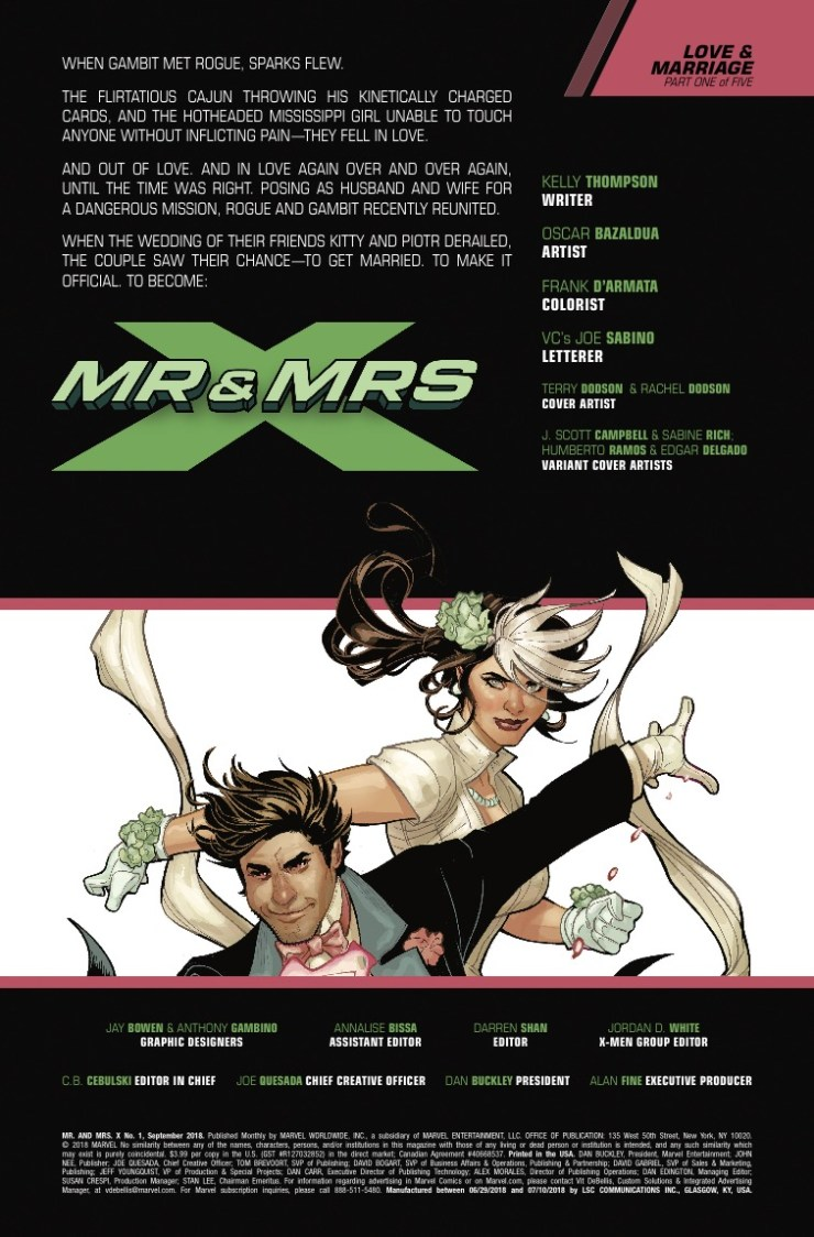 Marvel Preview: Mr. and Mrs. X #1
