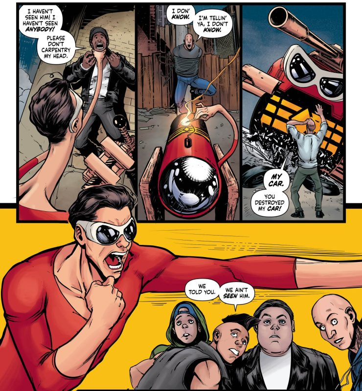 Plastic Man continues to be totally wang...In a good way!