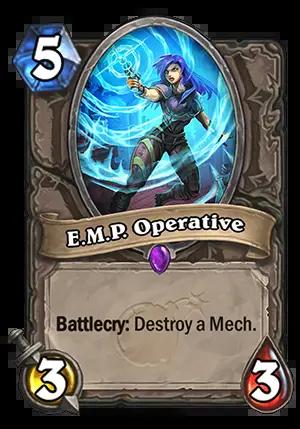 Hearthstone: The Boomsday Project: New neutral epic minion, E.M.P. Operative