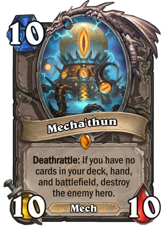 Hearthstone: The Boomsday Project: New Legendary, Mecha'thun