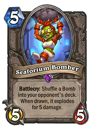 Hearthstone: The Boomsday Project: New neutral epic minion, Seaforium Bomber