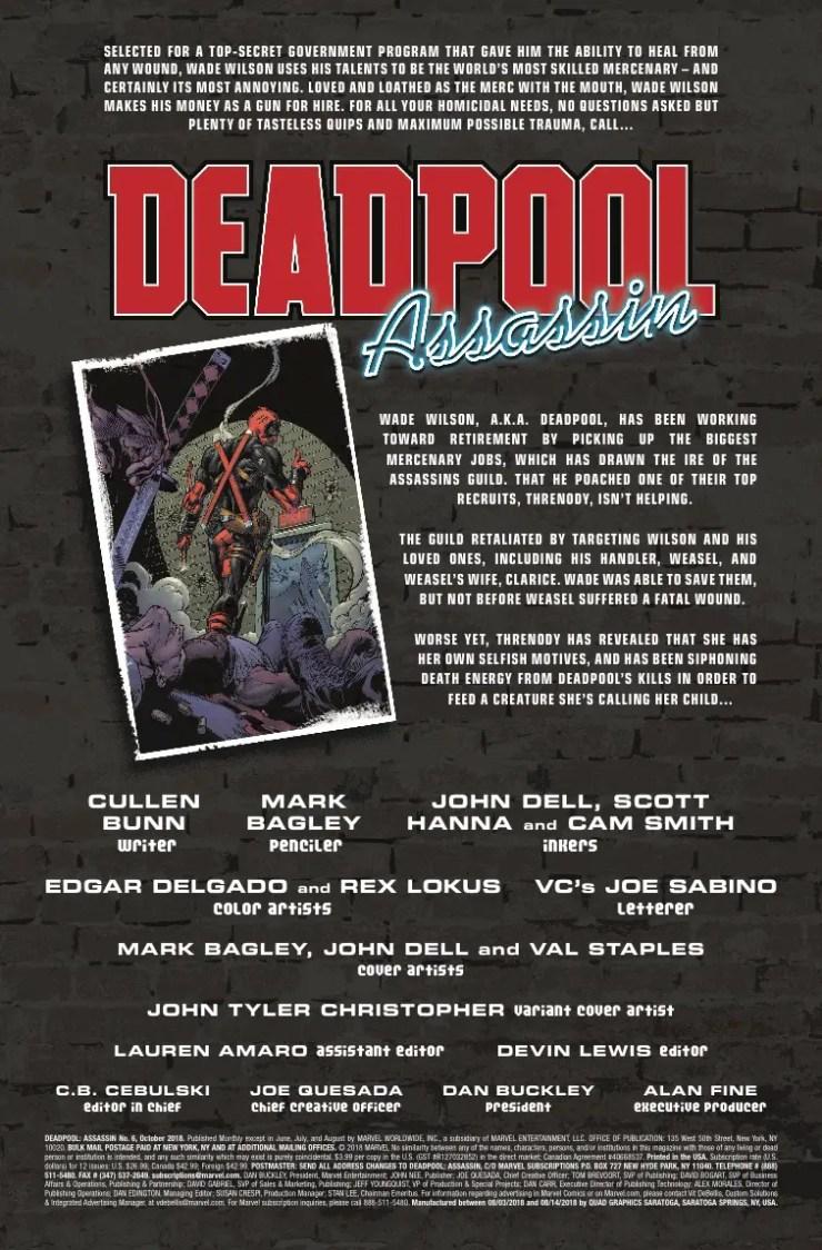 Marvel Preview: Deadpool: Assassin #6