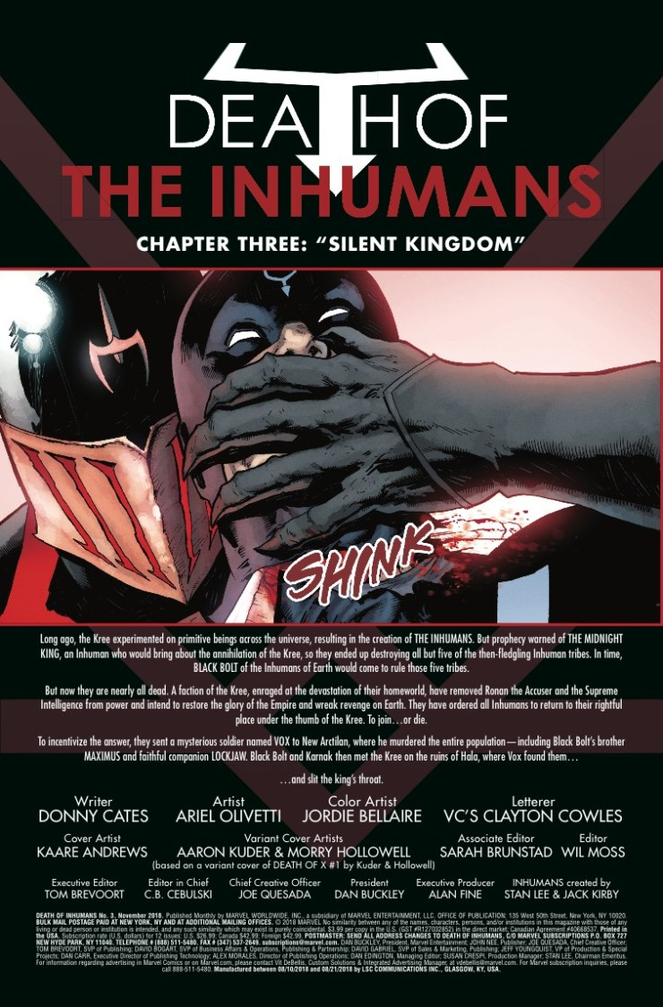 Marvel Preview: Death of the Inhumans #3