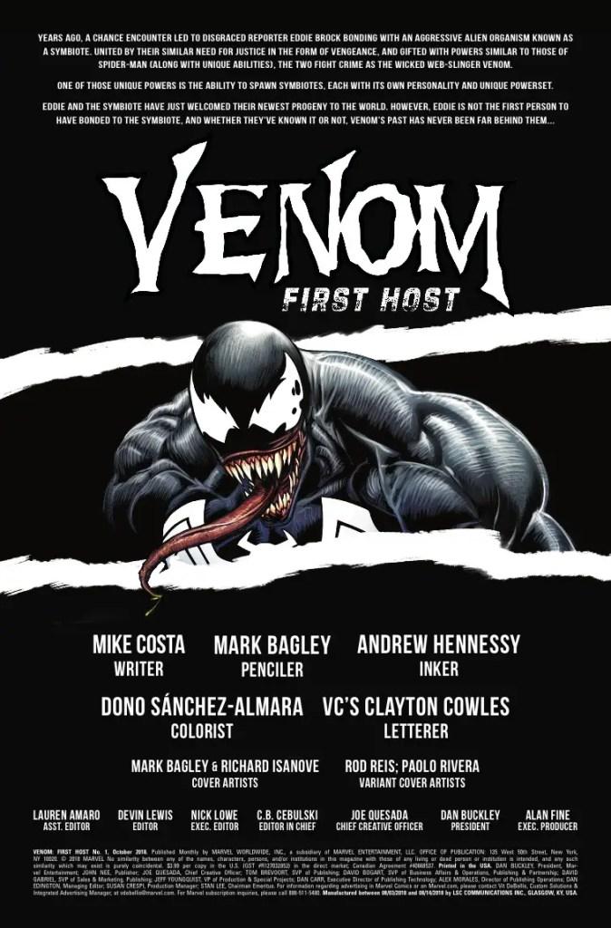 Marvel Preview: Venom: First Host #1