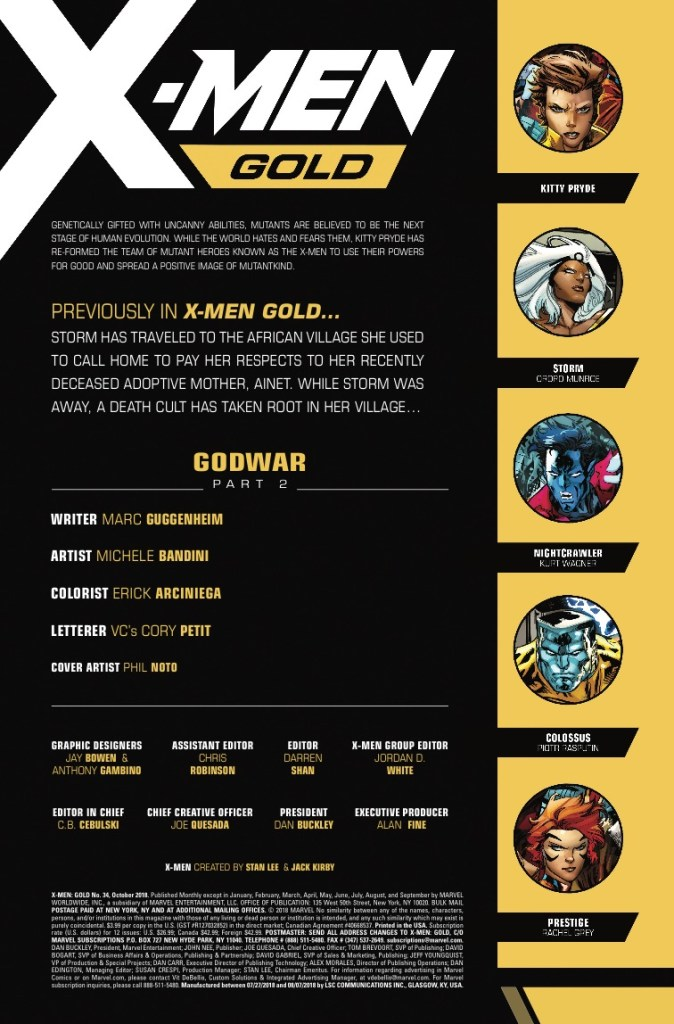 Marvel Preview: X-Men Gold #34