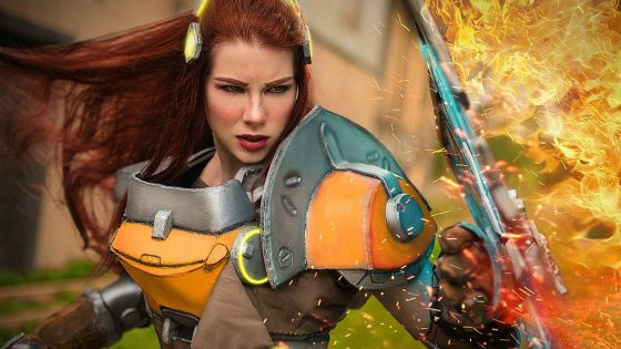 Overwatch: Brigitte cosplay by Anastasya Zelenova