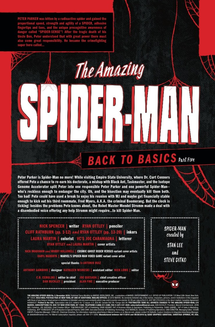 Marvel Preview: Amazing Spider-Man #5 - Peter Parker no more!