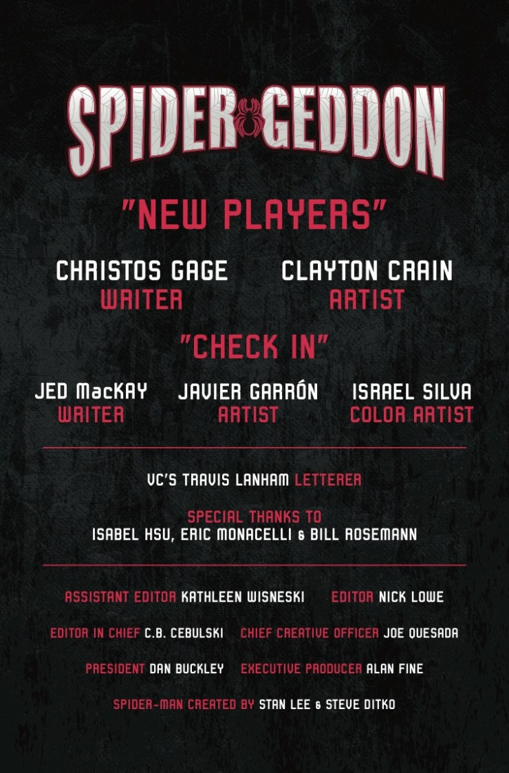 Marvel Preview: Spider-Geddon #0