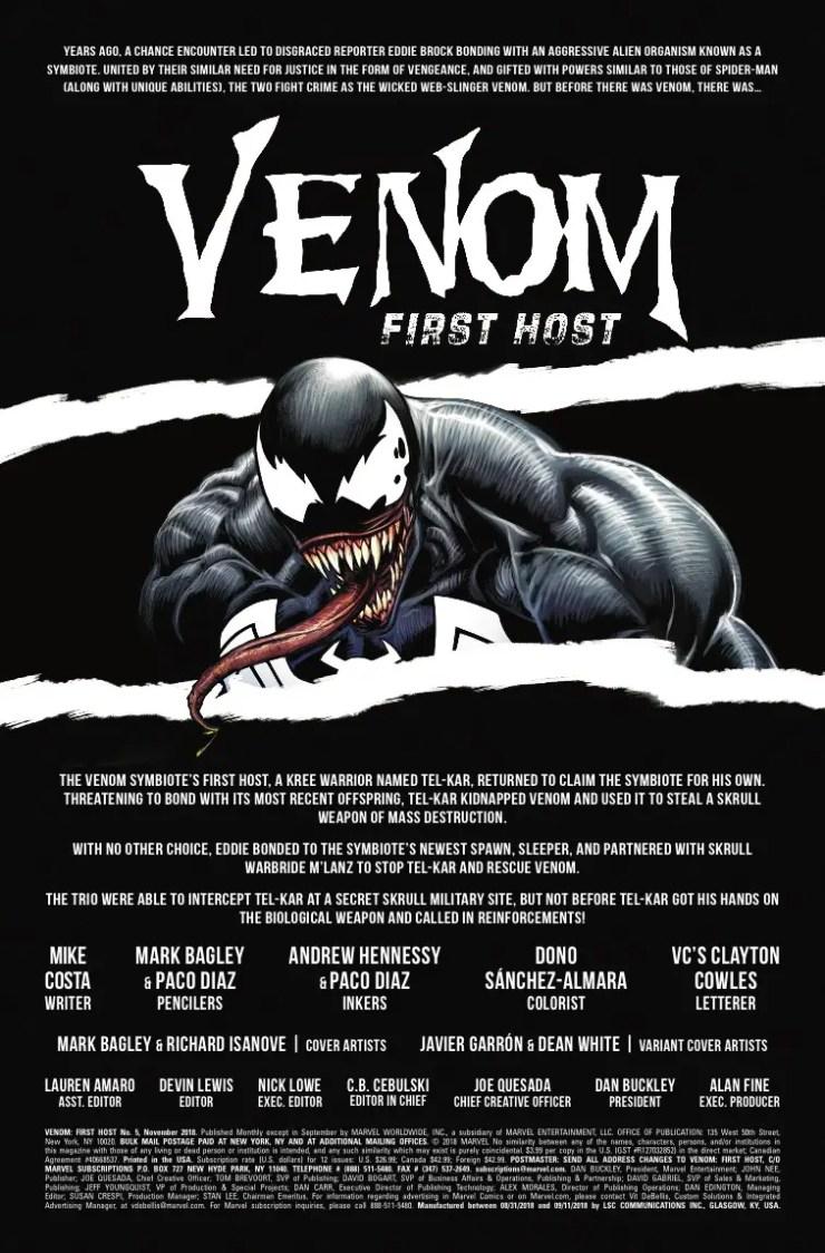 Marvel Preview: Venom: First Host #5