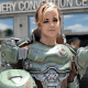 Dominique de Leon looks ready to save the Earth from the hordes of Hell in this Doom Guy genderbend cosplay.