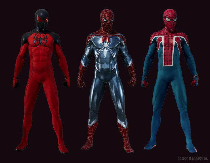 Insomniac reveals three new Spider-Man suits included in upcoming DLC