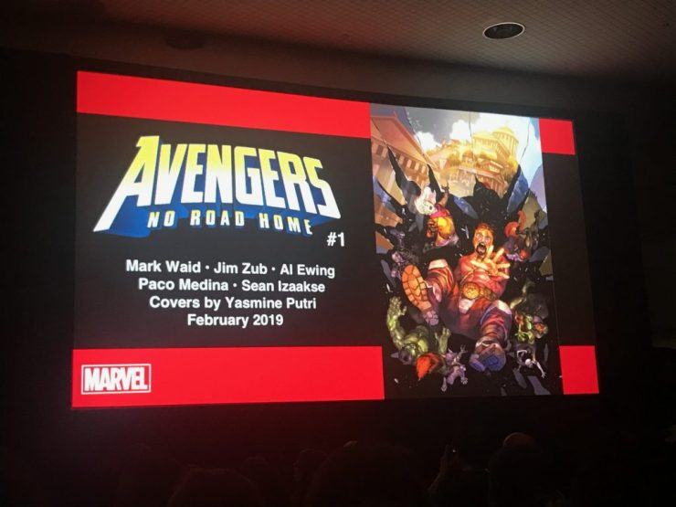 During their Next Big Thing panel at New York Comic Con,Marvel Comics unveiled Avengers: No Road Homefor 2019, a sequel to Avengers: No Surrender.
