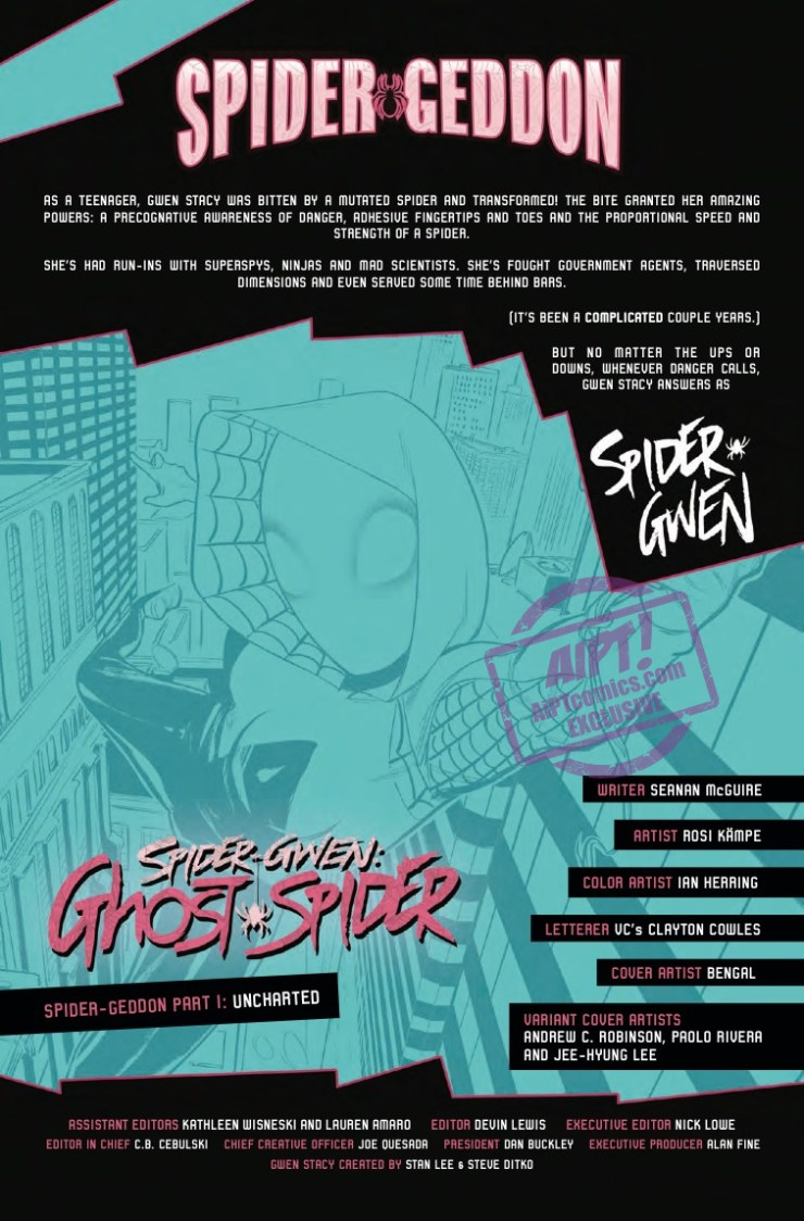 [EXCLUSIVE] Marvel Preview: Spider-Gwen: Ghost-Spider #1
