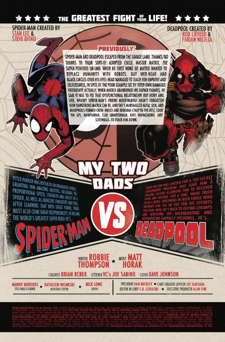 Marvel Preview: Spider-Man/Deadpool #40