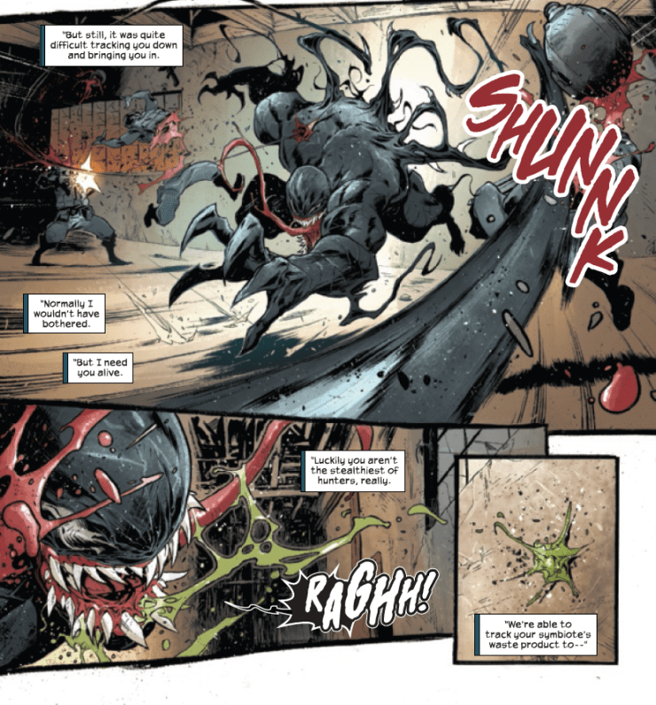 Venom's green drool is explained in Venom #7 -- and it's grosser than you think