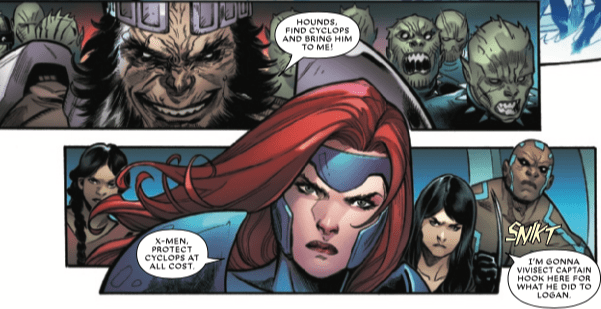 Does an X-Men character get exterminated in 'Extermination' #4?