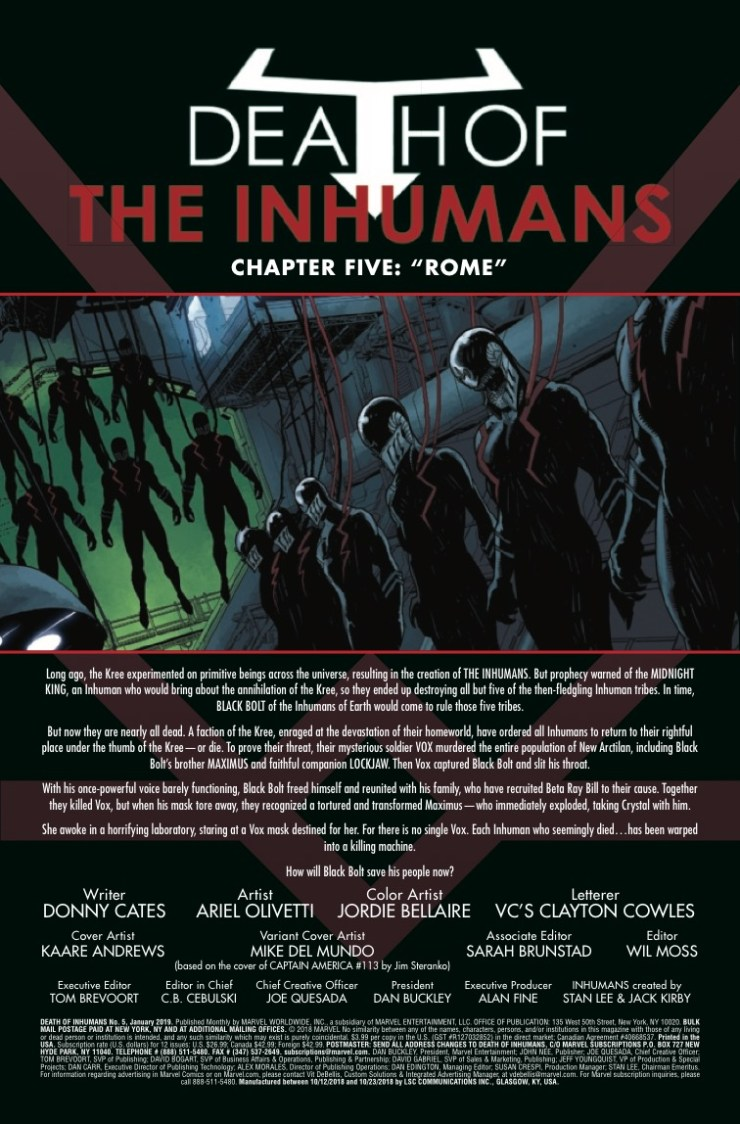 Marvel Preview: Death of the Inhumans #5