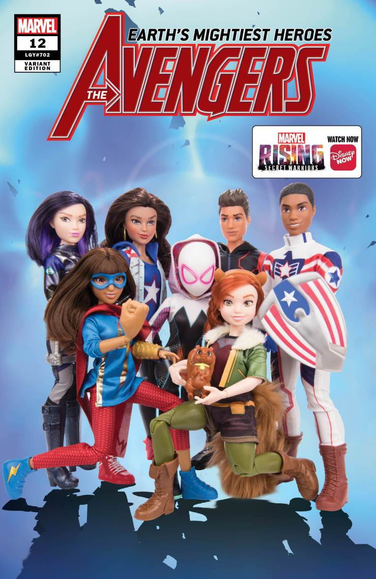 Marvel reveals Marvel Rising Action Doll homage variant covers!