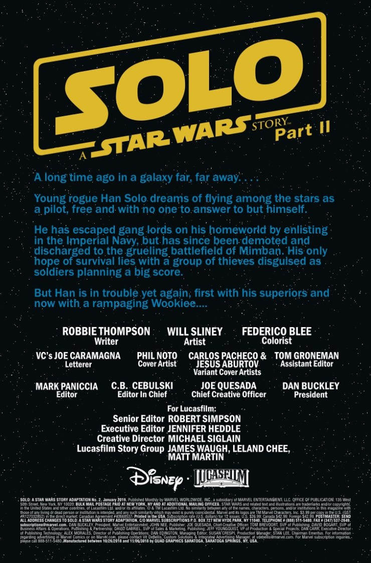 Marvel Preview: Solo: A Star Wars Story Adaptation #2