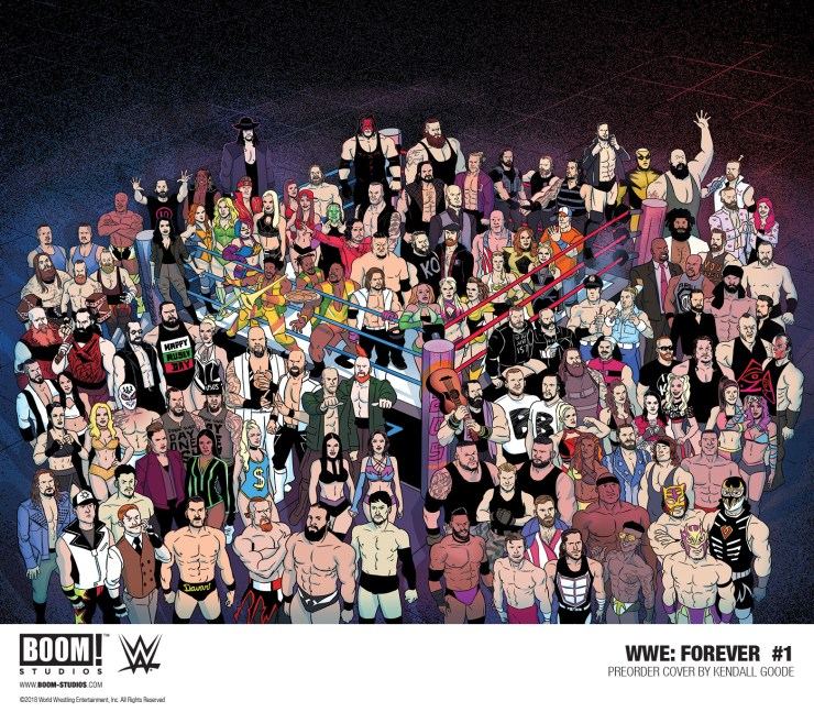 "First Look: WWE: Forever #1 featuring legends Andre the Giant, ""Rowdy"" Roddy Piper, Junkyard Dog, Ric Flair"