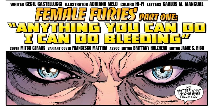 Female Furies #1 Review: Social Commentary at its finest