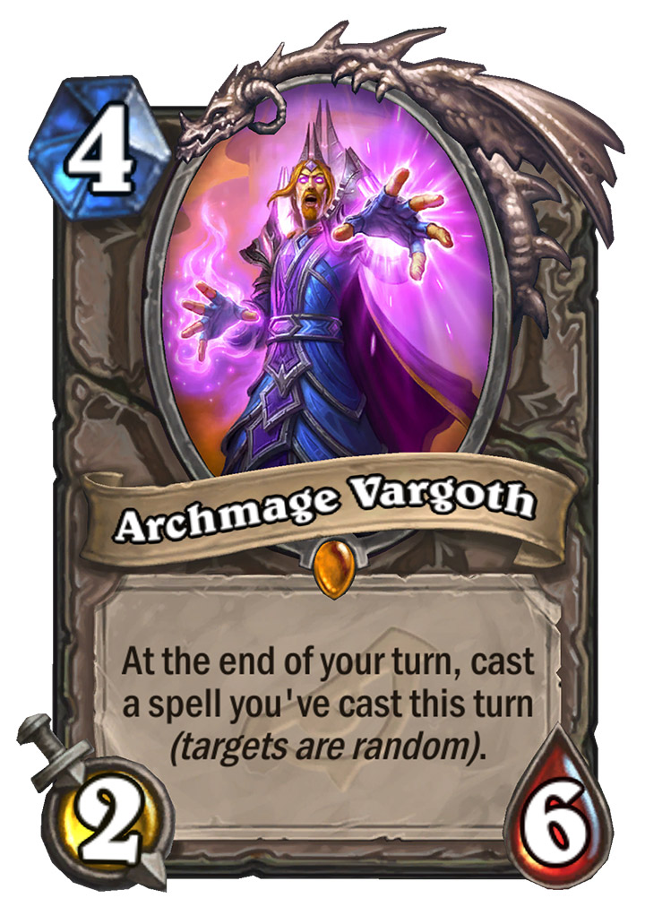 Like free Hearthstone Legendaries? Archmage Vargoth will be gifted to everyone preceding Rise of Shadow's release. Thanks Team 5!