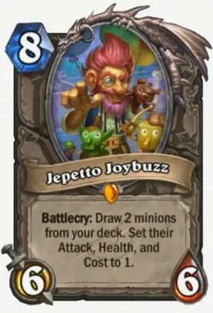 Hearthstone: Rise of Shadows: Jepetto Joybuzz, new neutral Legendary minion revealed