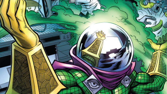 Our best look yet at Mysterio, Spider-Man: Far From Home's main antagonist.