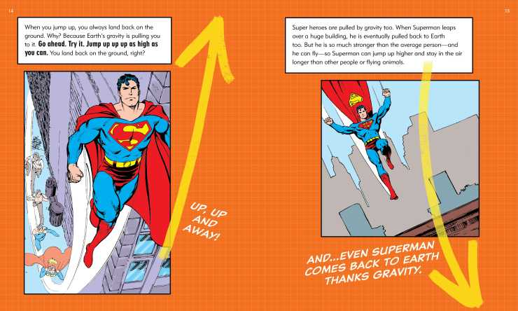 Learn from DC Comics characters in 'DC Super Hero Science' by Jennifer Hackett