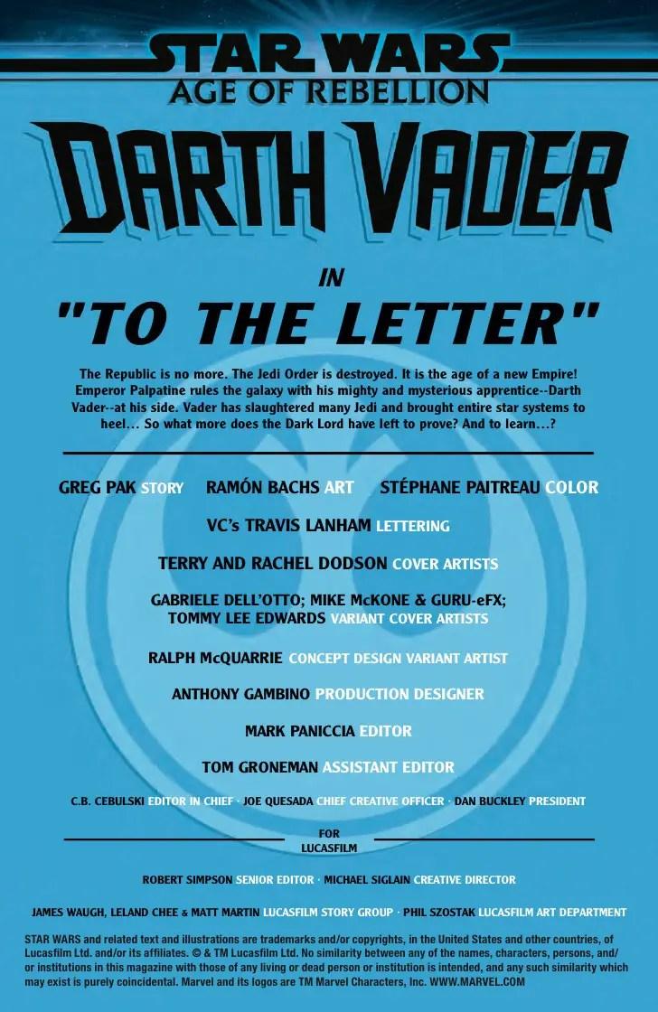 Marvel Preview: Star Wars: Age Of Rebellion - Darth Vader #1