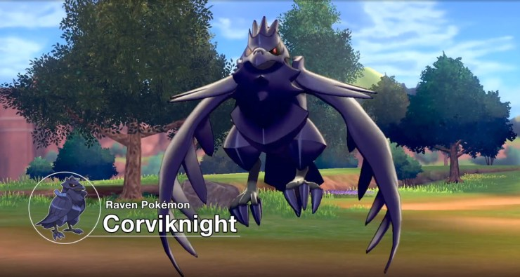 Coolest, most intimidating Pokemon in Sword and Shield so far? Corviknight