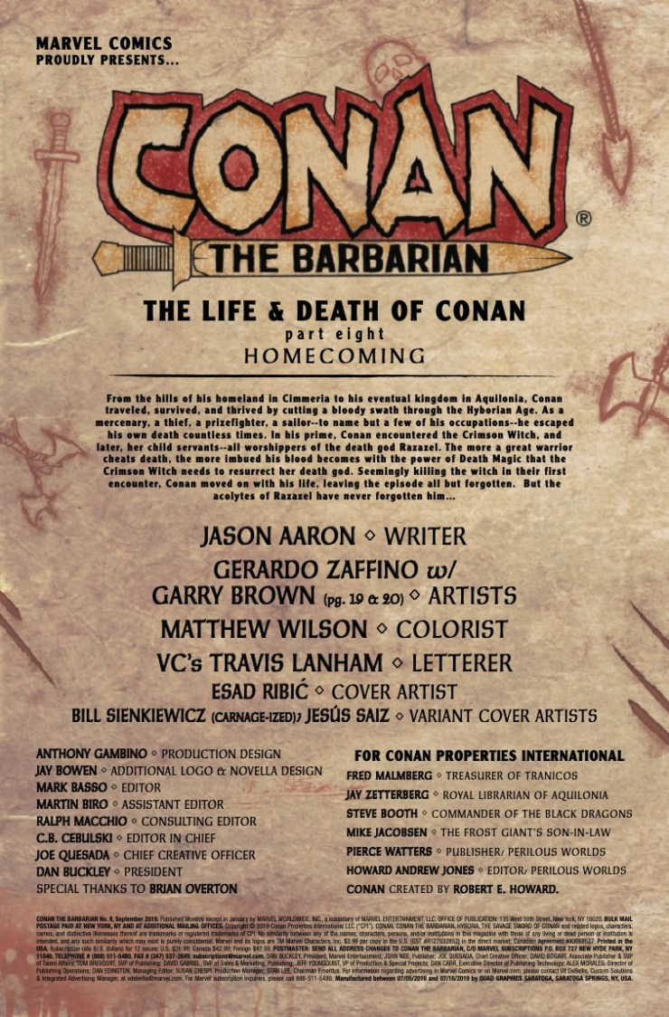 Marvel Preview: Conan The Barbarian #8