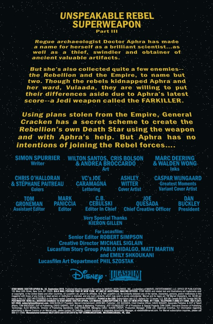 Marvel Preview: Star Wars: Doctor Aphra #34