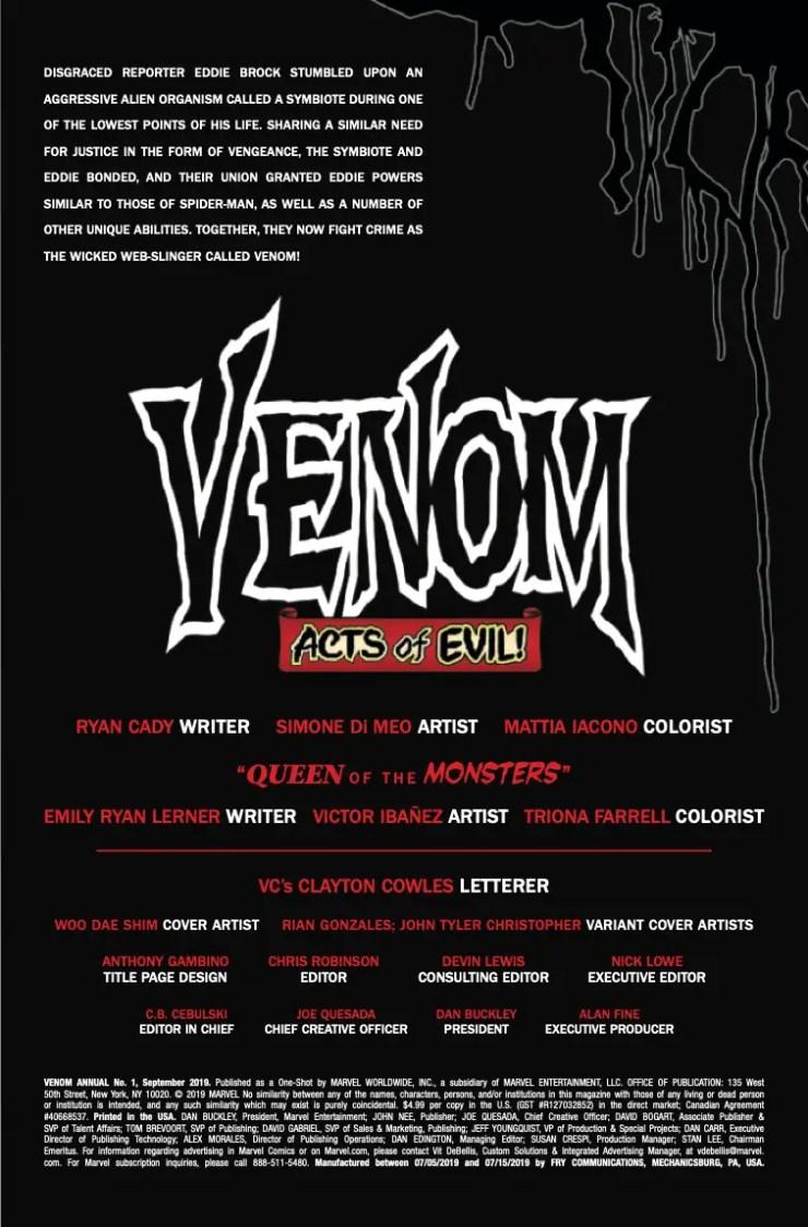 Marvel Preview: Venom Annual #1