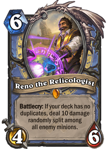 Hearthstone: Saviors of Uldum: New Legendary Mage minion, Reno the Relicologist revealed