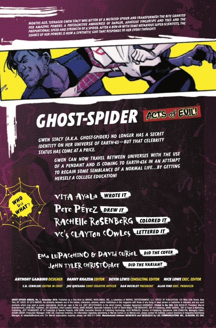 Marvel Preview: Ghost-Spider Annual #1