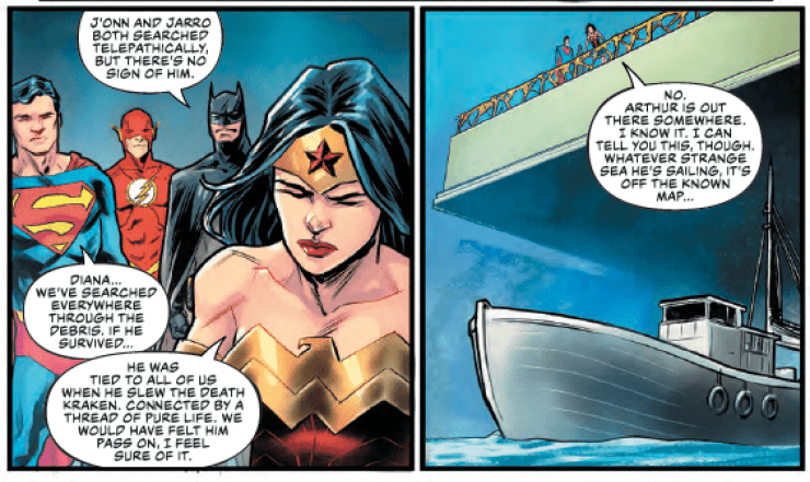 A new adversary emerges in 'Justice League' #31. Here's where we last saw them.