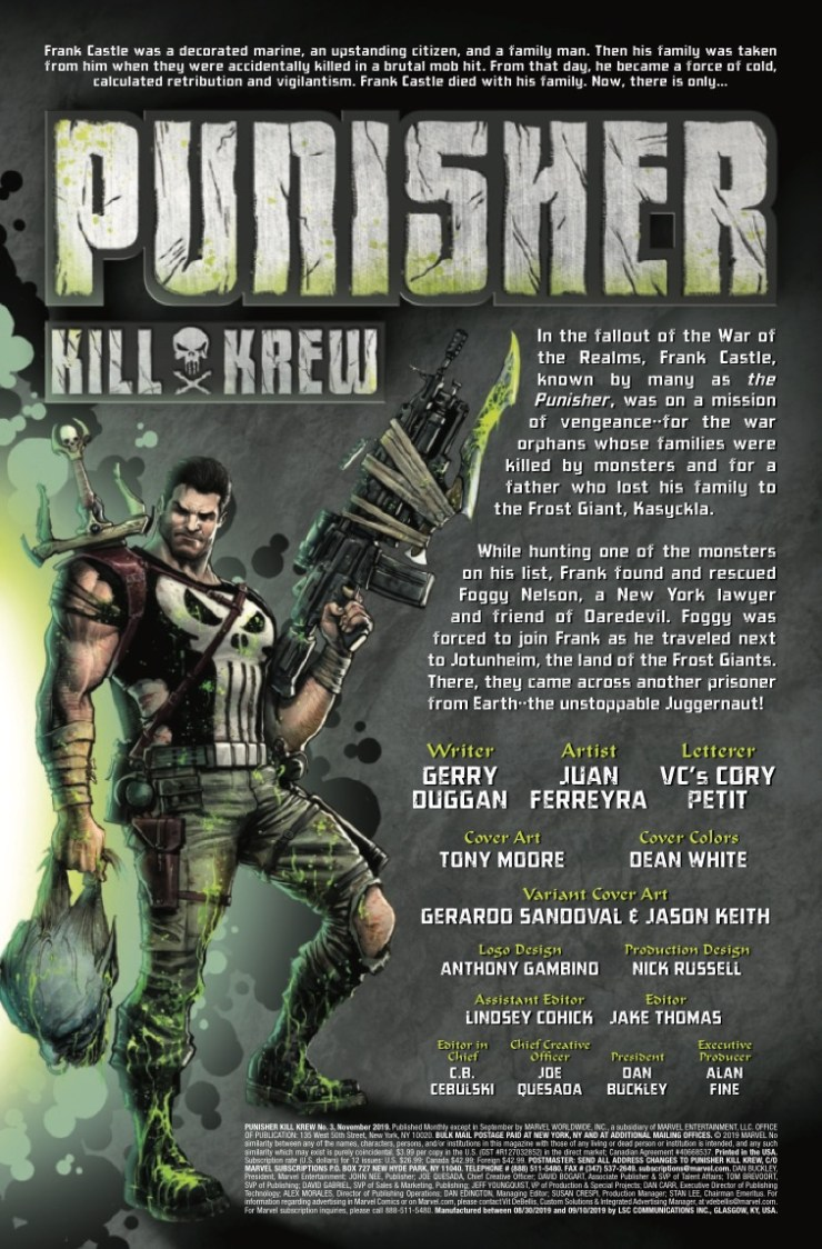 Marvel Preview: Punisher Kill Krew #3